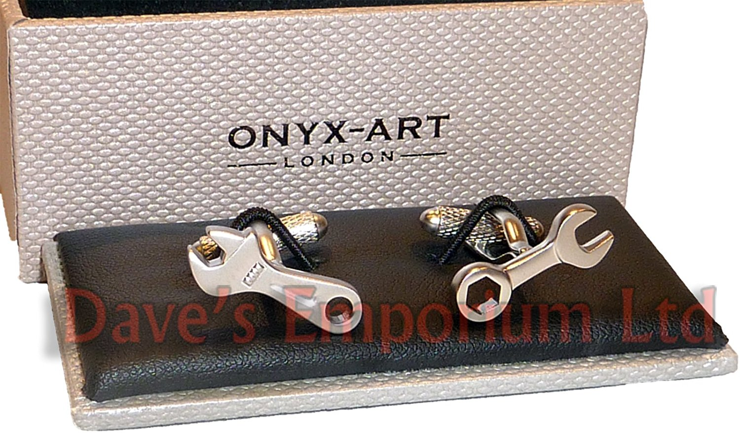 Novelty Mens Cufflinks - Spanner Wrench